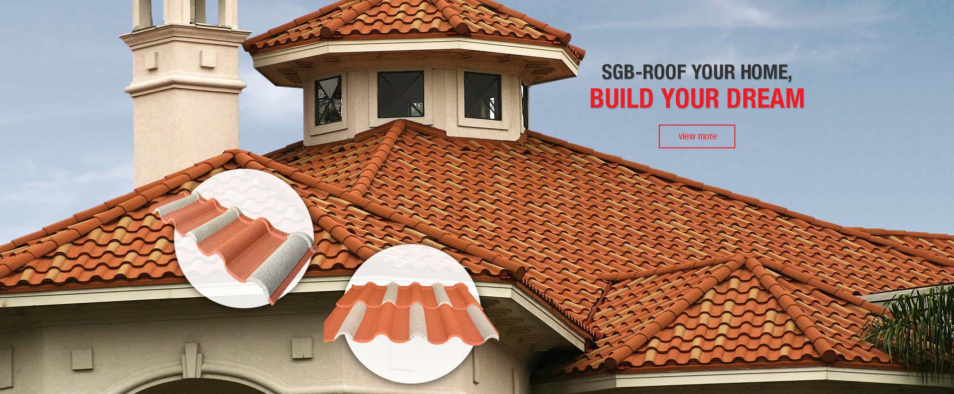 Stone Coated Roof, Rain Gutter System