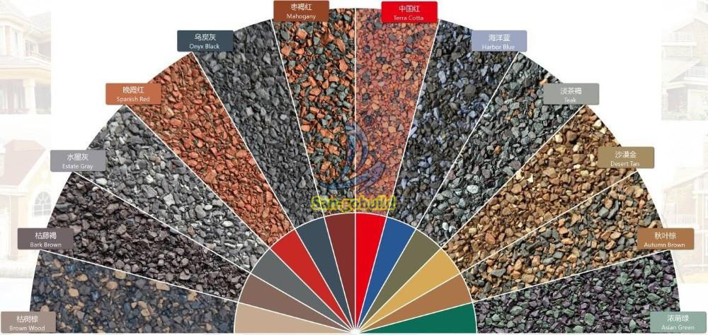 San-gobuild Added Mixed Colors Asphalt Shingle Samples