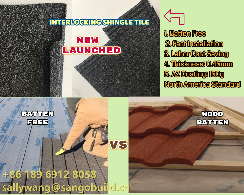 New Product Interlocking Shingle Roof Tiles Introduction