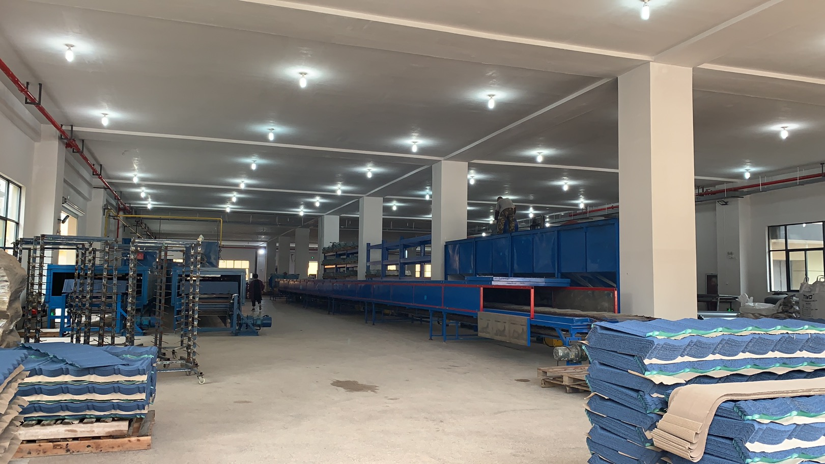 Our NEW Factory for stone coated metal roof tiles in Hangzhou fully opened this week