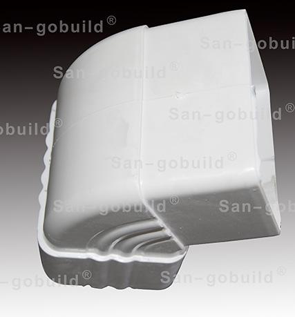 7.0inch PVC Rain Gutter