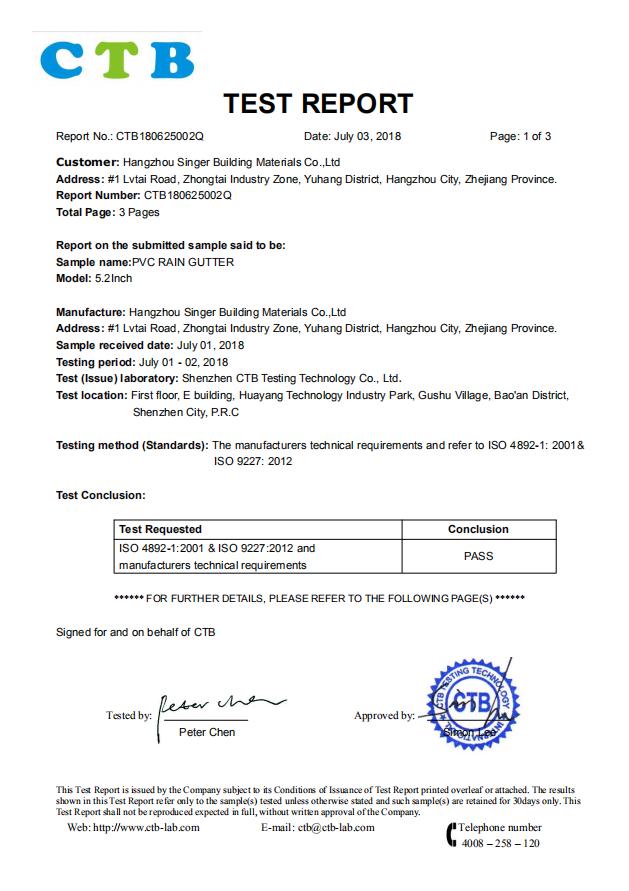 CTB Test Report
